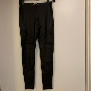Never Worn Faux Quilted Leather Leggings